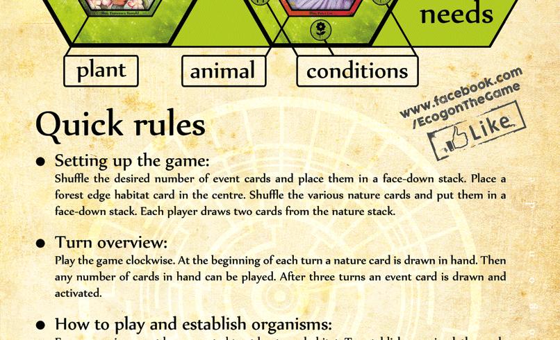 quick rules Ecogon